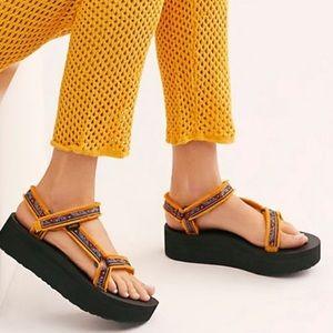 Flatform Sunflower Teva Sandals